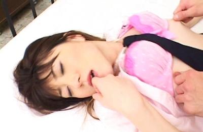 Shiori Kitajima Asian doll gets a hot pussy creampie
