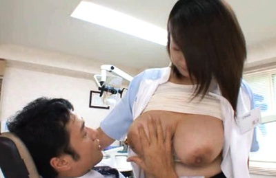 Busty Nurse Gets Felt Up And Fucked In The Dentist´s Office