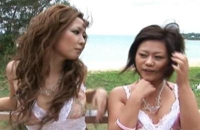 Lovely Asian model enjoys some hot gangbang sex