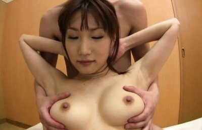Skinny Asian chick enjoys tits squeezing and hard fucking