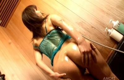 Yuki fondles her hot cans and arouses nooky 3