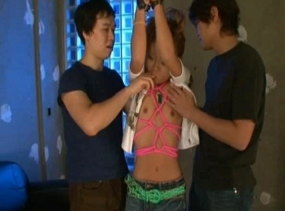 Misa Komine Japanese doll gets into a gangbang and is creamed