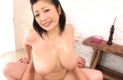 Lovely Minako taking pleasure sucking huge dick